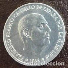 Monedas Franco: ESPAÑA - UNA MONEDA DE CINCUENTA (50) CENTIMOS ESTADO ESPAÑOL - AÑO 1966 *68 KM.777 - SIN CIRCULAR. Lote 124592951