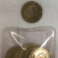 Monedas Franco: ESPAÑA - NUEVE MONEDAS DE UNA (1) PESETA ESTADO ESPAÑOL - AÑO 1966 TODAS LAS ESTRELLAS KM.796 -. Lote 124596947