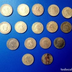 Monedas Franco: LOTE DE 16 MONEDAS 1 PESETA AÑOS 1966 -1953. *67 *69 *72 *73*74*75. Lote 125064743