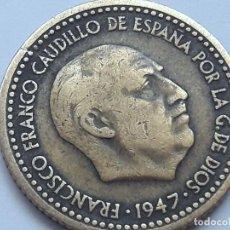 Monedas Franco: 1 PESETA 1947 *19 *52 CON ERROR UNICO . ANVERSO LEYENDA PARTIDA COMPLETAMENTE..WITH ONLY ERROR. Lote 125185343