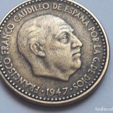 Monedas Franco: 1 PESETA 1947 *19 *53 ESTRELLAS BIEN VISIBLES . MBC´/MBC +. Lote 125397031