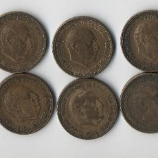 Monedas Franco: LOTE COMPUESTO POR 10 MONEDAS 2,5 PESETAS 1553*54*56 ESTADO ESPAÑOL. Lote 126861723