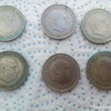 Monedas Franco: LOTE 6 MONEDAS DE 5 PESETAS, FRANCISCO FRANCO, 1957 - 5 PESETAS 1957 ( 5 PTAS ). Lote 126867947