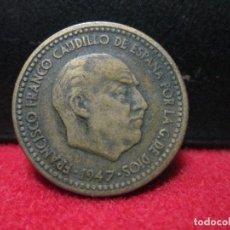 Monedas Franco: 1 PESETA 1947 ESTRELLAS 19 50 . Lote 127448527