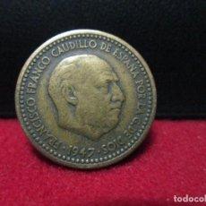 Monedas Franco: 1 PESETA 1947 ESTRELLAS 19, 51. Lote 127508123