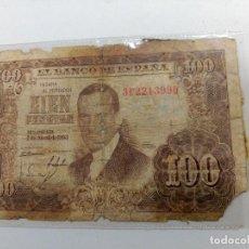 Monedas Franco: BILLETE CIEN 100 PESETAS JULIO ROMERO DE TORRES MADRID 7 ABRIL 1953. Lote 127595931