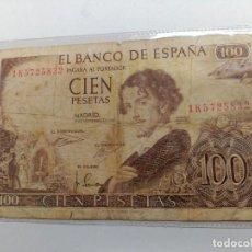 Monedas Franco: BILLETE CIEN 100 PESETAS - MADRID 19 NOVIEMBRE 1965 GUSTAVO ADOLFO BECQUER. Lote 127596203