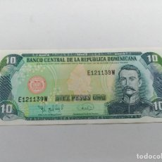Monedas Franco: BILLETE DIEZ 10 PESOS - REPUBLICA DOMINICANA SERIE 1995 MELLA. Lote 127596475