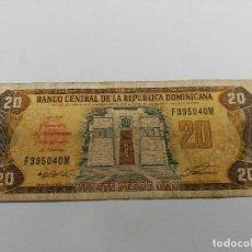 Monedas Franco: BILLETE VEINTE 20 PESOS- REPUBLICA DOMINICANA SERIE 1992 ALTAR DE LA PATRIA. Lote 127596527