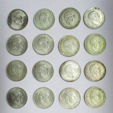 Monedas Franco: CONJUNTO DE 20 MONEDAS DE 100 PESETAS DE PLATA DEL ESTADO ESPAÑOL, VARIAS FECHAS. LOTE 1117. Lote 127777111