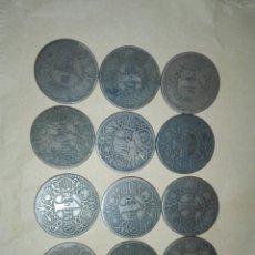 Monedas Franco: 12 MONEDAS 1PESETA PRIMERA PESETA DE FRANCO 1944 INSPIRADAS EN EL DINAR DE YUGOSLAVIA. Lote 128092634