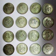 Monedas Franco: CONJUNTO DE 20 MONEDAS DE 100 PESETAS DE PLATA DEL ESTADO ESPAÑOL, VARIAS FECHAS. LOTE 1121. Lote 128374767