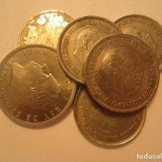 Monedas Franco: LOTE DE 5, 50 Y 100 PESETAS DE FRANCO Y J. CARLOS I. Lote 128922203