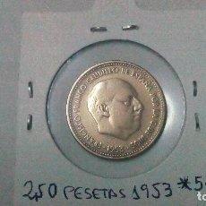 Monedas Franco: MONEDA DE 2,50 PESETAS DEL AÑO 53. *54. Lote 128986215