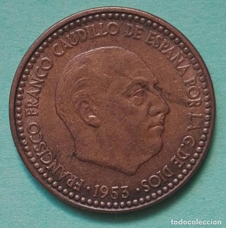 ESPAÑA - 1 PESETA 1953 * 62 - EBC - VISITA MIS OTROS LOTES (Numismática - España Modernas y Contemporáneas - Estado Español)