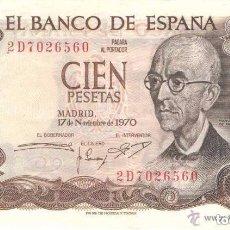 Monedas Franco: BILLETE DE ESPAÑA, 1970, 100 PESETAS (LOTE 10). Lote 130658743