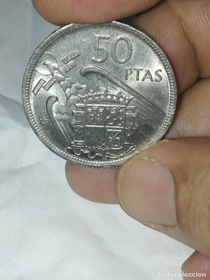 Monedas Franco: Moneda de 50 pts de franco.año 1957 estrella 68 prueba - Foto 4 - 84378400
