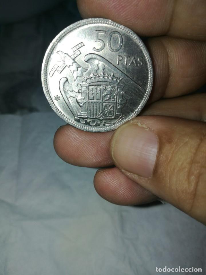 Monedas Franco: Moneda de 50 pts de franco.año 1957 estrella 68 prueba - Foto 5 - 84378400
