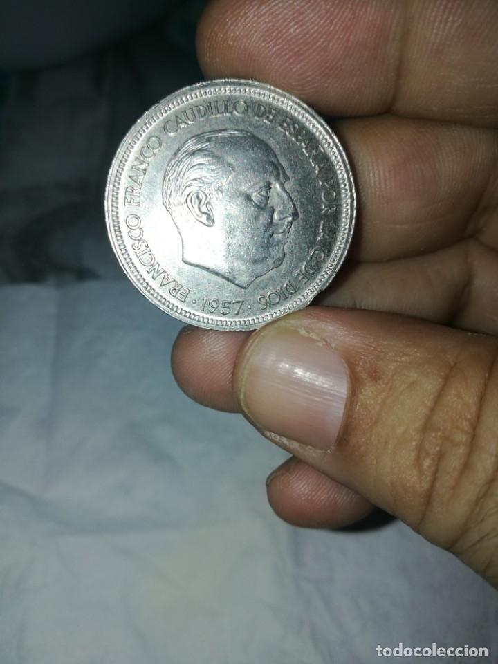Monedas Franco: Moneda de 50 pts de franco.año 1957 estrella 68 prueba - Foto 6 - 84378400
