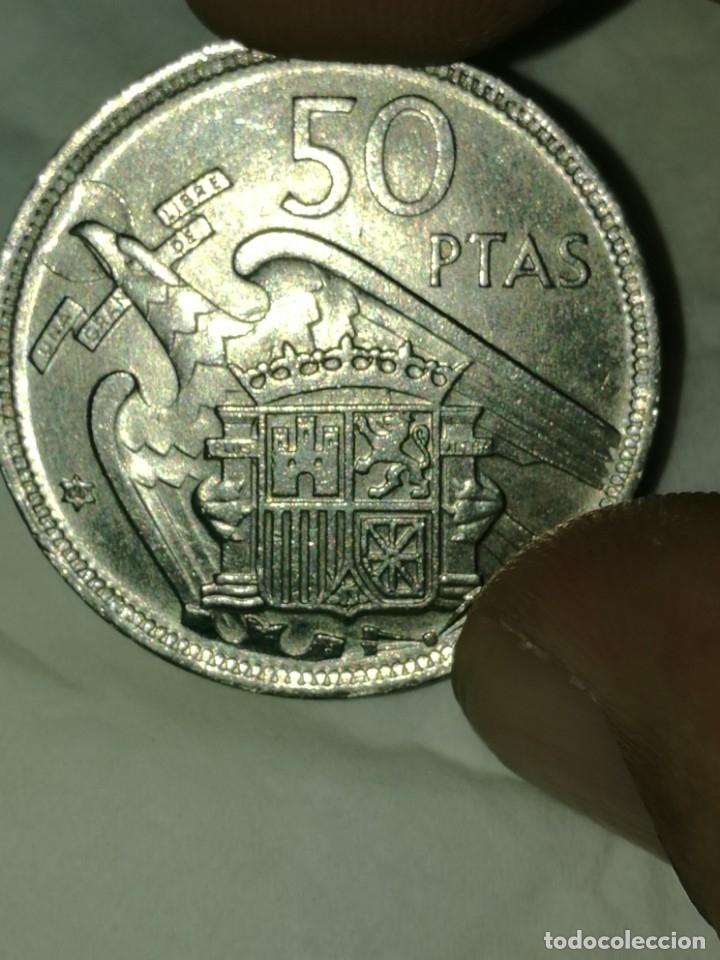 Monedas Franco: Moneda de 50 pts de franco.año 1957 estrella 68 prueba - Foto 10 - 84378400