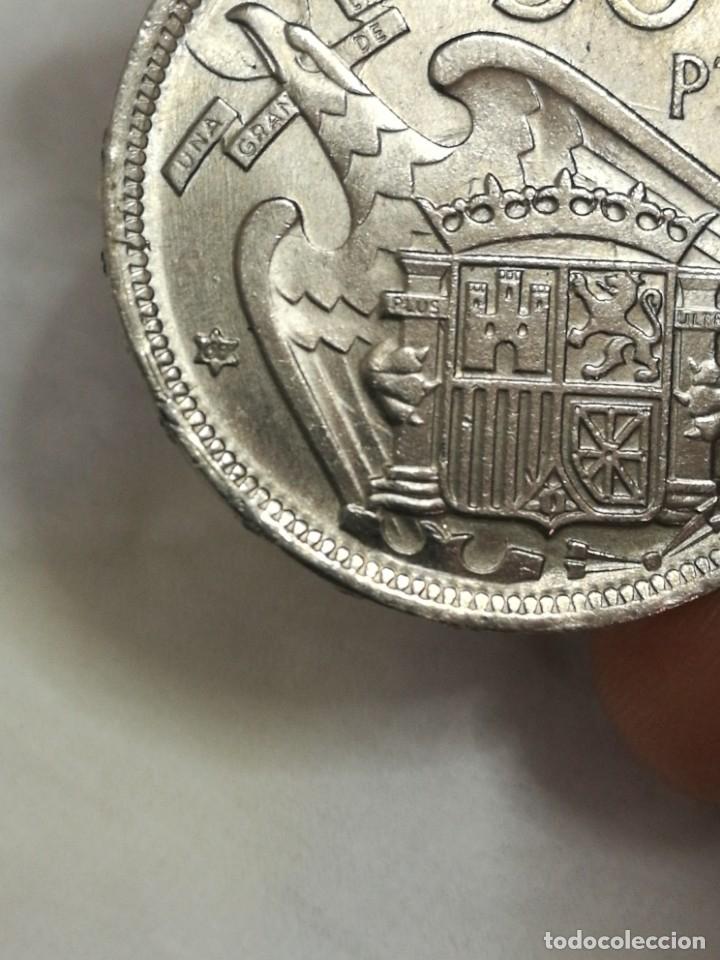Monedas Franco: Moneda de 50 pts de franco.año 1957 estrella 68 prueba - Foto 13 - 84378400