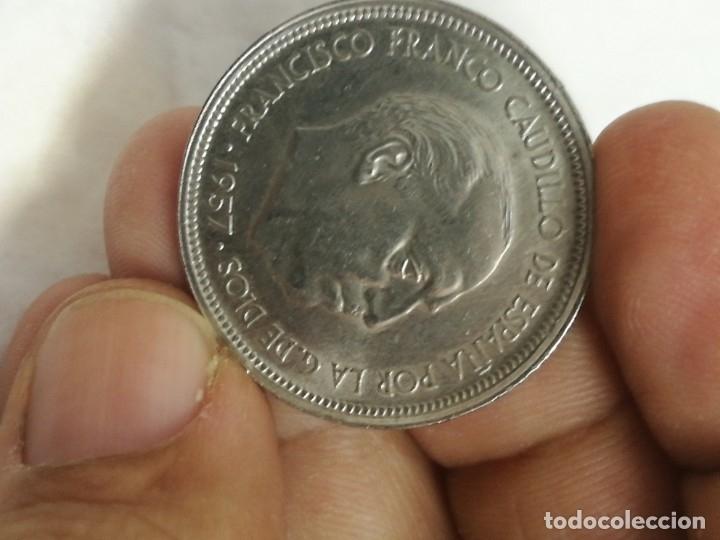 Monedas Franco: Moneda de 50 pts de franco.año 1957 estrella 68 prueba - Foto 15 - 84378400