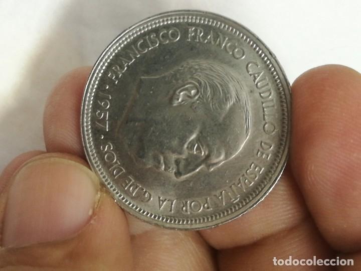 Monedas Franco: Moneda de 50 pts de franco.año 1957 estrella 68 prueba - Foto 16 - 84378400