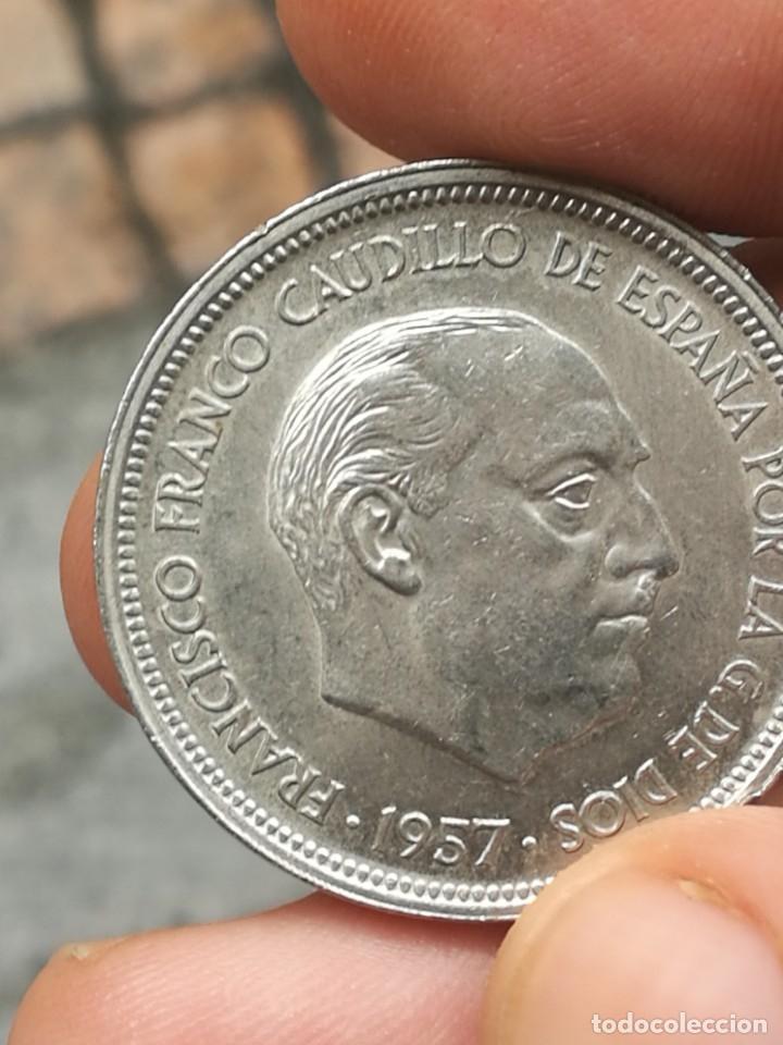 Monedas Franco: Moneda de 50 pts de franco.año 1957 estrella 68 prueba - Foto 29 - 84378400