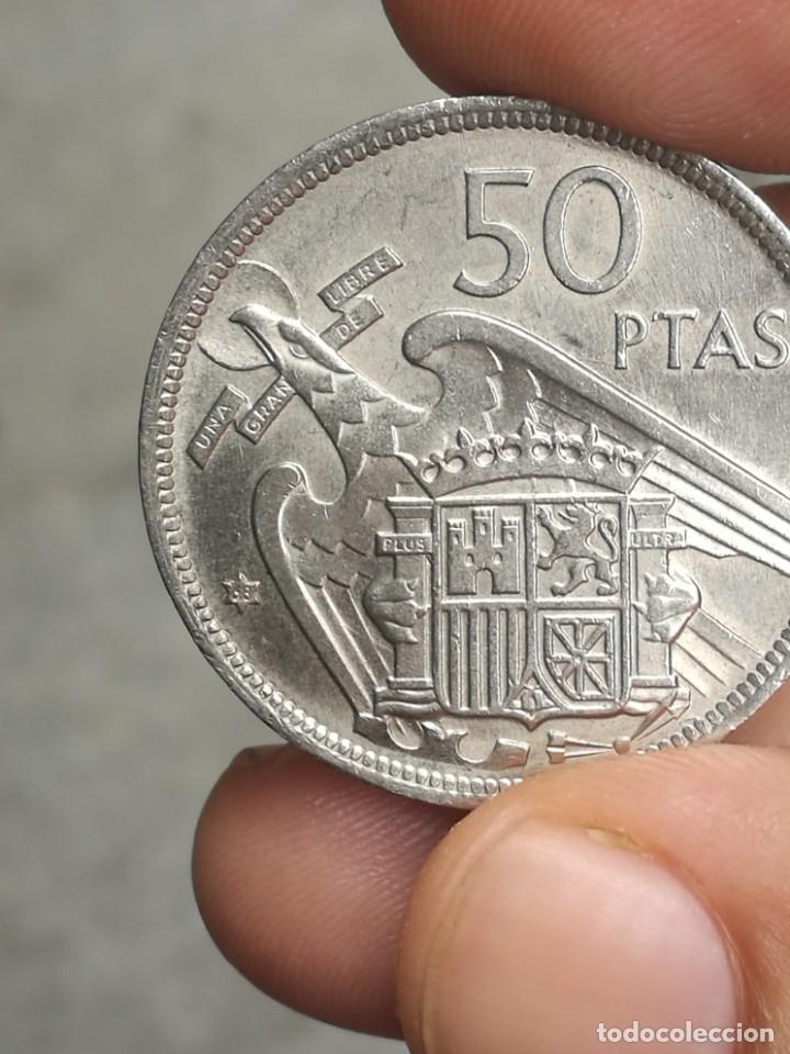 Monedas Franco: Moneda de 50 pts de franco.año 1957 estrella 68 prueba - Foto 38 - 84378400
