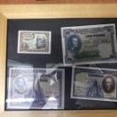 Monedas Franco: BILLETES ANTIGUOS PESETAS SIN CIRCULAR ENMARCADOS. Lote 131072639