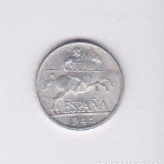 Monedas Franco: MONEDAS - ESTADO ESPAÑOL - 5 CÉNTIMOS 1945 - (EBC+). Lote 131221336