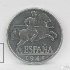 Monedas Franco: MONEDA ESTADO ESPAÑOL - 10 CÉNTIMOS 1941 MADRID - ALUMINIO - CONSERVACIÓN EBC. Lote 131233007