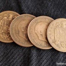 Monedas Franco: 4 MONEDAS DE 1 PESETA 1947 *52 *53 *54. Lote 131560522