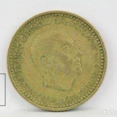 Monedas Franco: MONEDA ESTADO ESPAÑOL - 1 PESETA 1966 *69 / COBRE - CONSERVACIÓN MBC. Lote 132076325