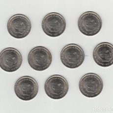 Monedas Franco: LOTE DE 10 MONEDAS DE 25 PESETAS-1957*70-SIN CIRCULAR. Lote 132310182