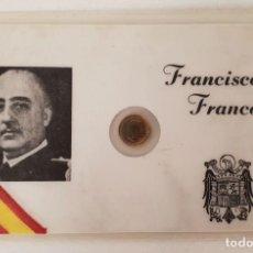 Monedas Franco: MONEDA DE 100 PESETAS DEL GENERAL FRANCO EN FORMATO CARNET. 1966. Lote 132648110