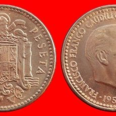 Monedas Franco: 1 PESETA FRANCO 1953-56 SC ESPAÑA . Lote 145022012