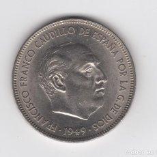 Monedas Franco: 1949 FRANCO 5 PESETAS *19 *50 EBC NIQUEL. Lote 133368218