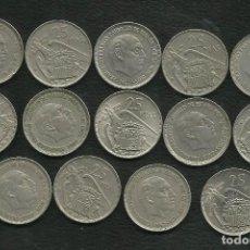Monedas Franco: ESPAÑA-ESTADO ESPAÑOL. 14X25 PESETAS. 14 FECHAS DIFERENTES (1958-1975). Lote 143076624