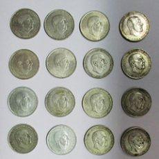 Monedas Franco: CONJUNTO DE 20 MONEDAS DE 100 PESETAS DE PLATA DEL ESTADO ESPAÑOL, VARIAS FECHAS. LOTE 1201. Lote 133796002