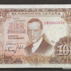 Monedas Franco: R43/ ESPAÑA BILLETE DE 100 PESETAS, 7 DE ABRIL DE 1953, MBC. Lote 207170241