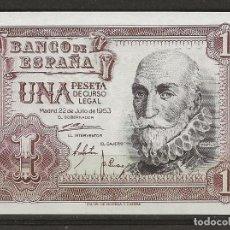 Monedas Franco: R43/ ESPAÑA BILLETE DE 1 PESETA, MADRID 22 DE JULIO DE 1953. Lote 134858602