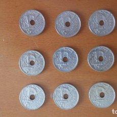 Monedas Franco: LOTE COMPLETO 50 CENTIMOS 1949 Y 1963. Lote 135628850