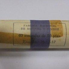 Monedas Franco: CARTUCHO DE 40 MONEDAS DE 50 PESETAS DE 1957 *59. FRANCISCO FRANCO. VER FOTOS. Lote 135770922