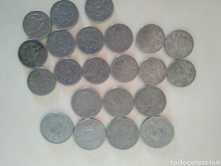 Monedas Franco: Lote de monedas época franquista - Foto 2 - 135896757