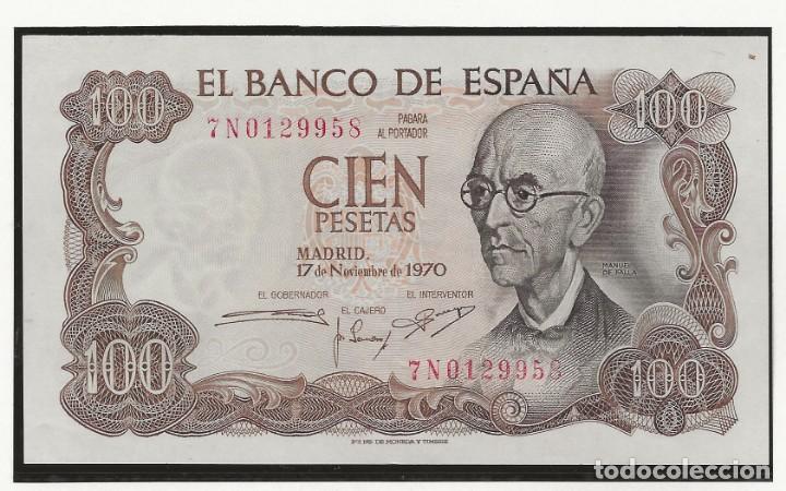 R43.BAUL/ ESPAÑA, BILLETE 100 PESETAS, 12 DE NOVIEMBRE DE 1970 -MANUEL DE FALLA - (Numismática - España Modernas y Contemporáneas - Estado Español)