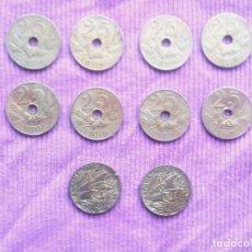 Monedas Franco: LOTE 10 MONEDAS AÑO 1927 Y AÑO 1925.. Lote 136161358