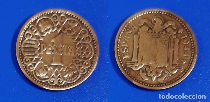ESPAÑA 1 PESETA, 1944 - KM# 767 (Numismática - España Modernas y Contemporáneas - Estado Español)