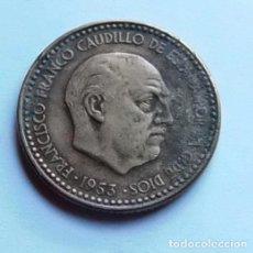 Monedas Franco: ESPAÑA - FRANCO - 1 PESETA - 1953.. Lote 137180534
