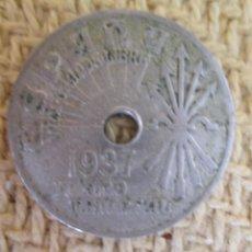 Monedas Franco: ESPAÑA - 25 CENTIMOS 1937. Lote 137551514